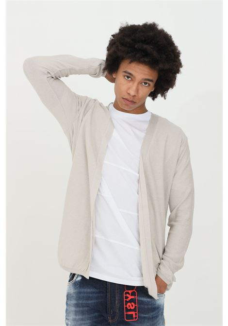 Beige cardigan in premium cotton with long sleeves. Open model without closures. Yes london YES LONDON | Cardigan | XMF2095..