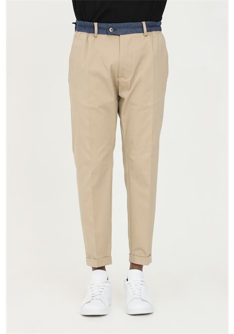 Pantalone uomo beige yes london casual taglio classico. Vita elastica e tasche laterali. Modello slim YES LONDON | Pantaloni | XP2850BEIGE
