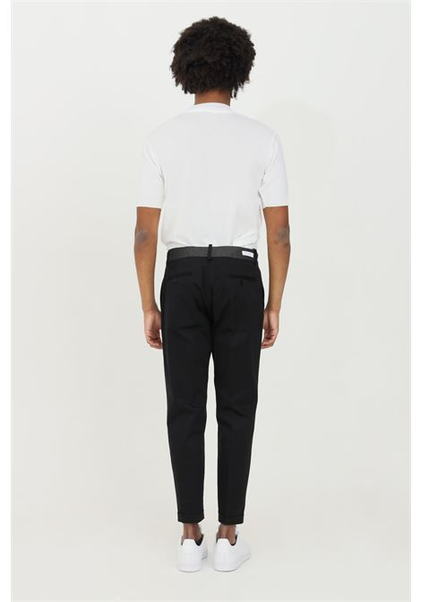 Black trousers, classic cut. Elastic waist and side pockets. Slim model. Yes london YES LONDON | Pants | XP2850NERO