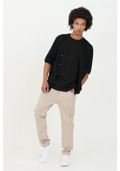 Jeans uomo beige yes london in denim con dettaglio stemma e chiusura con bottone YES LONDON | Jeans | XP3091BEIGE