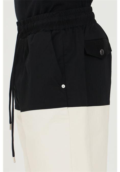 Black-cream shorts with elastic waistband and drawstring closure. 4 pockets model. Yes london YES LONDON | Shorts | XS4082NERO-PANNA