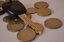 100-car-keys-with-coins - Public Domain Pictures