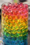 Colored Beads Balls In Glass - Public Domain Pictures