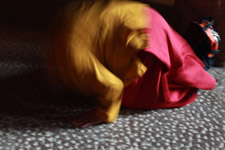 12-blurry-picture-of-monk-praying - Public Domain Pictures
