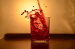 Red Liquid Glass Pour 6 - Public Domain Pictures