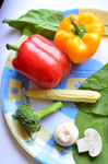 Veggies In A Plate - Public Domain Pictures