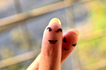 Finger Smiley Faces - Public Domain Pictures
