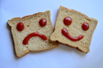 Happy Sad Face Bread - Public Domain Pictures