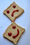 1998-happy-sad-smiley-in-bread - Public Domain Pictures