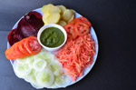 Salad Plate Chutney 4 - Public Domain Pictures