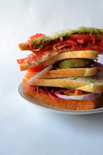 Vegetable Sandwich 4 - Public Domain Pictures