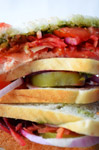 Vegetable Sandwich Closeup - Public Domain Pictures