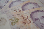 Singapore Dollars Two - Public Domain Pictures
