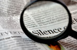 Silence Word Magnified - Public Domain Pictures