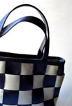 Chequered Hand Bag Woman - Public Domain Pictures