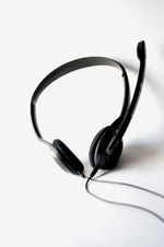 2616-headphones-mic - Public Domain Pictures