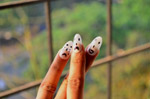 Smiley Faces Hand Nails 2 - Public Domain Pictures