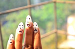 Smiley Faces Hand Nails 5 - Public Domain Pictures
