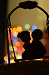 Bokeh Swing Couple - Public Domain Pictures