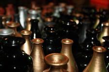 Pots Vases Gold Color - Public Domain Pictures