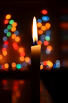 Christmas Lights Candle - Public Domain Pictures