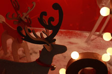 287-reindeer-xmas-decorations-lights - Public Domain Pictures