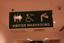 Washrooms Restroom Board Sign - Public Domain Pictures