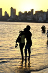 Couple On Beach Silhouette - Public Domain Pictures