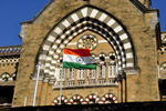 Indian Flag On Building - Public Domain Pictures