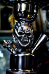 Skull On Metal Hookah - Public Domain Pictures