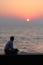 Man Sitting Sunset Thinking - Public Domain Pictures