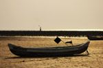 Boat On Beach Low Tide - Public Domain Pictures