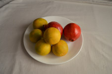 Fruits On White Dish - Public Domain Pictures