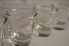 Glasses In A Row - Public Domain Pictures
