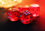 Dice Red Colored - Public Domain Pictures