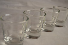 Shot Glasses Line - Public Domain Pictures
