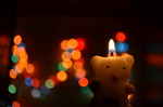 Bokeh Lights Candle - Public Domain Pictures