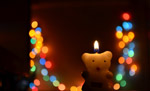 Teddy Candle Bokeh - Public Domain Pictures