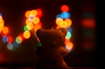 Teddy Cute Candle - Public Domain Pictures