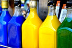 Colored Liquid Bottles - Public Domain Pictures