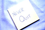 Never Quit Card - Public Domain Pictures