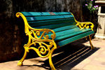 Park Bench Painted - Public Domain Pictures