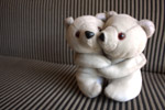 Teddy Bear Couple Hug - Public Domain Pictures