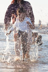 Child Playing In Water - Public Domain Pictures