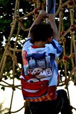 Child Climbing Ropes Park - Public Domain Pictures
