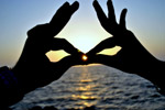 Hands Kissing Sunset Couple - Public Domain Pictures