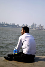 Man Sitting Thinking - Public Domain Pictures