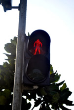 Red Sign Walking - Public Domain Pictures