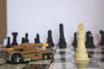 Toy Car In Chess Board - Public Domain Pictures