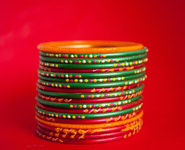 Glass Bangles Red Green - Public Domain Pictures